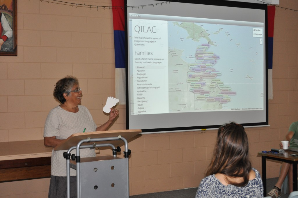 Melinda Holden introduces the interactive Queensland Languages Map. Ngirrma Puwal Pukang,  2014